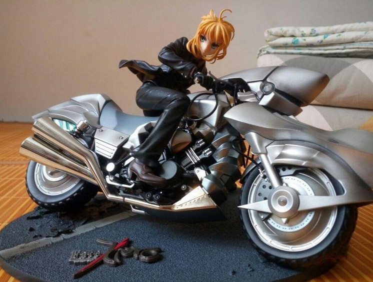 Fate/Zero セイバーバイクを駆る姿